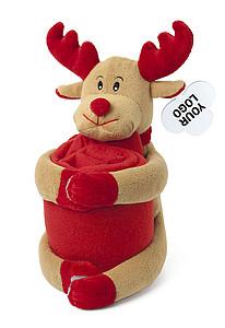 PULA Červená deka s plyšovým sobem