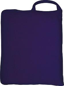 Fleecová deka 150x120cm, složitelná do polštáře, modrá