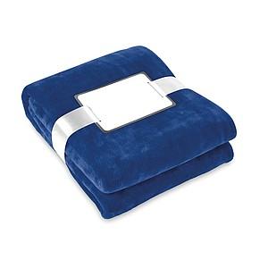 Flanelovo fleecová deka, modrá