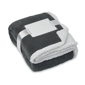 Fleecová deka s podšitím, šedá