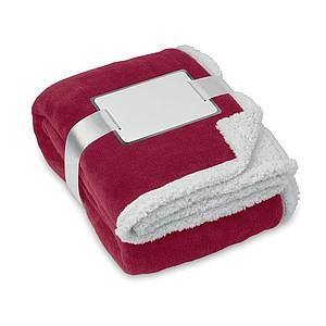 Fleecová deka s podšitím, červená
