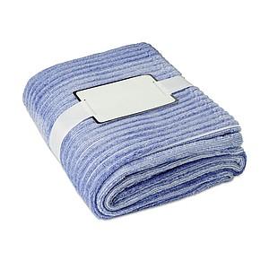 Pruhovaná flanelová deka, 120x150cm, modrá