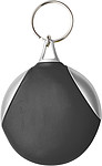 DAPER Kulatý přívěšek na klíče s hadříkem na brýle, černý