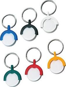 ALENKA přívěsek na klíče, modrá/ bílá