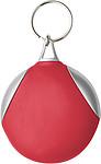 DAPER Kulatý přívěšek na klíče s hadříkem na brýle, červený