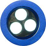 VALAKIS Svítilna se 3 LED, otvírákem a kroužkem na klíče, modrá