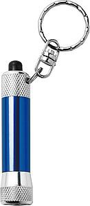 DIAMON Přívěšek na klíče, LED baterka, stříbrno modrá
