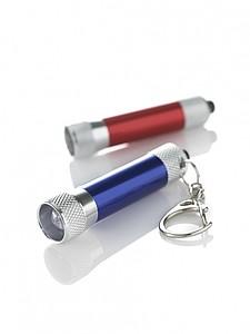 DIAMON Přívěsek na klíče, LED baterka, stříbrná