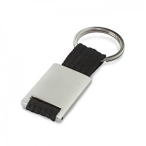 IZIDOR Kovový obdélníkový přívěšek na klíče, černá