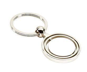 GYRO kovový přívěsek na klíče, stříbrný