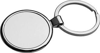 Přívěsek na klíče z masivního kovu, stříbrná