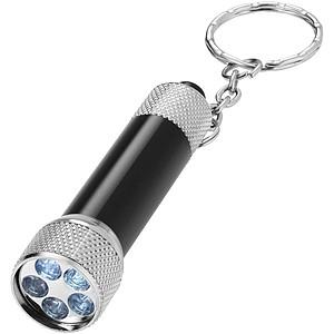 LED svítilna jako přívěsek na klíče, černá
