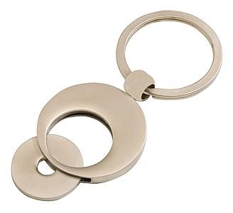 Kovový přívěšek na klíče s žetonem
