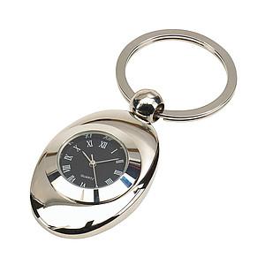 Kovový přívěšek na klíče s hodinami