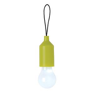 Klíčenka se svítilnou ve tvaru žárovky, zelená