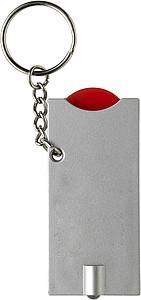 TORI Přívěšek na klíče se světlem a žetonem,červená
