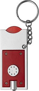 TORI Přívěsek na klíče se světlem a žetonem,červená
