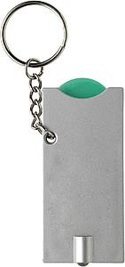 TORI Přívěsek na klíče se světlem a žetonem, zelený