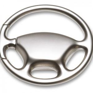 Přívěsek na klíče, volant, kovový