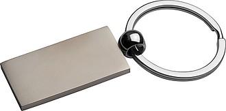 Přívěšek na klíče z masivního kovu, stříbrná