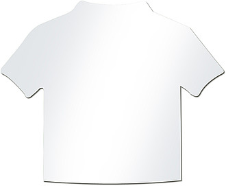 Bílý lístek k vložení do přívěšku tvaru trika