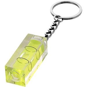 Vodováha jako přívěsek na klíče, zelená