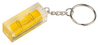 Vodováha s kroužkem na klíče, transparentní