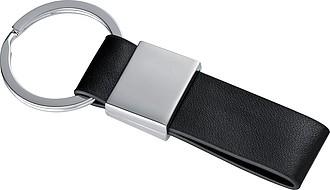 Přívěšek na klíče, černo stříbrný