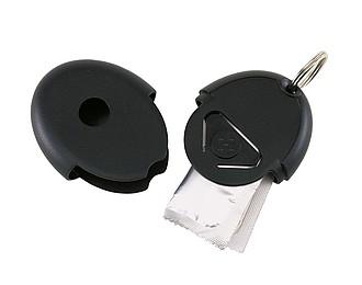 KONET Přívěsek na klíče s kondomem, černá