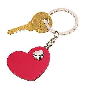 Přívěšek na klíče ve tvaru červeneho srdíčka