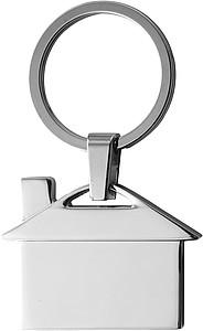 Přívěsek na klíče ve tvaru domečku, kov
