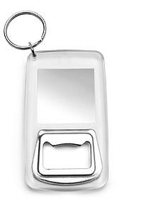 APSO Přívěšek na klíče, otvírák, místo pro vložení lístečku