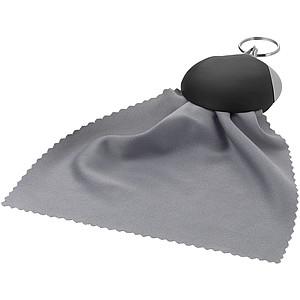 Přívěsek na klíče s hadříkem na čištění brýlí, černá