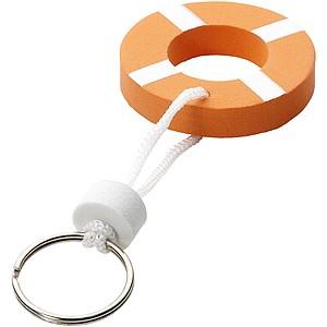 Plovoucí přívěsek na klíče - záchranný kruh, oranžová