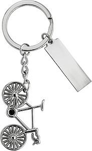 Kovový přívěšek na klíče pro cyklisty s kolem