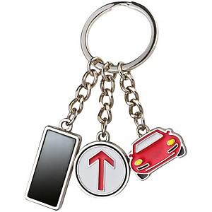Kovový přívěšek na klíče s autem