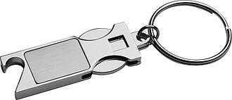 DISOLO Kovový přívěsek na klíče s žetonem do nákupního vozíku