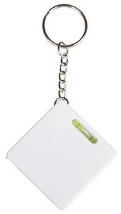FRATEL Přívěšek na klíče se svinovacím metrem, vodováhou a mini KP, bílá