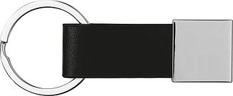 Klíčenka s poutkem ze syntetické kůže, černá