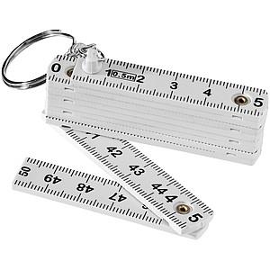 Skládací metr jako přívěšek na klíče, délka 0,5m, bílá