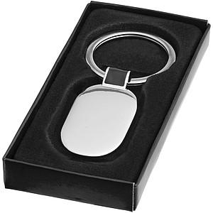 Přívěsek na klíče, stříbrná , černá
