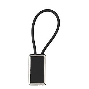 Přívěsek na klíče s plastovým poutkem, černý