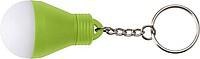 ROGAO Přívěšek na klíče ve tvaru žárovky, svítící, zelená