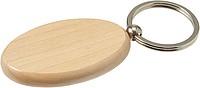 Oválný dřevěný přívěšek na klíče