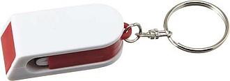 FEBRUAR Přívěsek na klíče, slouží jako stojánek i čistítko na mobil, červený