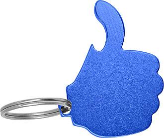 FEREDO Hliníkový přívěsek na klíče ve tvaru palce, modrá