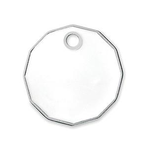 Přívěšek s žetonem do vozíku velikosti libry, bílý