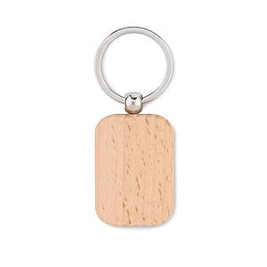 Dřevěný obdélníkový přívěsek na klíče