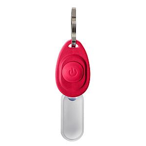 FEDERIKO Plastové světlo s kovovým klipem k připnutí na zip, červená