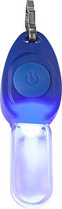 FEDERIKO Plastové světlo s kovovým klipem k připnutí na zip, modrá